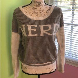 "Sweaters - 🌻 3/$40 Grey and white ""Nerd"" sweater"